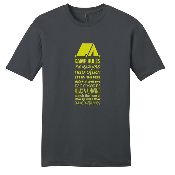 Camp Rules T-Shirt - Unisex Fit Outdoor Hobby Shirt