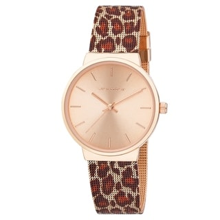 Link to Vernier Womens Rose Gold Leopard Mesh Strap Watch Similar Items in Women's Watches
