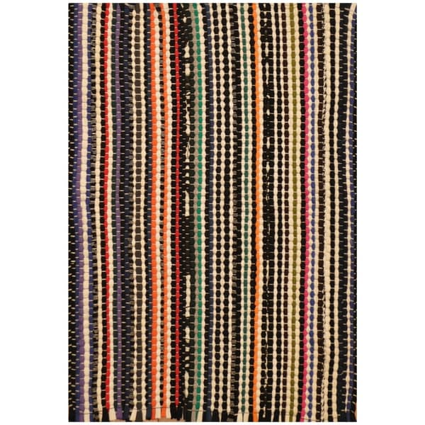 Handmade One-of-a-Kind Wool Kilim (India) - 1'6 x 2'2