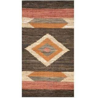 Handmade One-of-a-Kind Wool Kilim (India) - 2'4 x 4'6