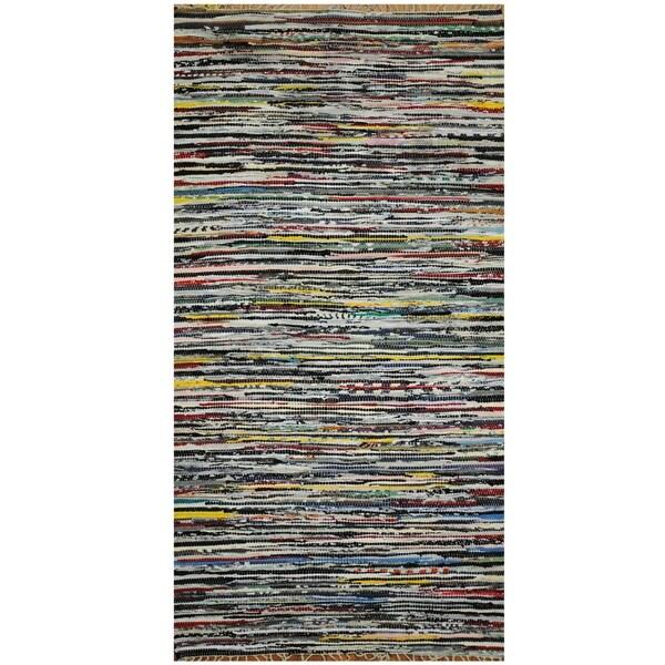 Handmade One-of-a-Kind Wool Kilim (India) - 3' x 5'7