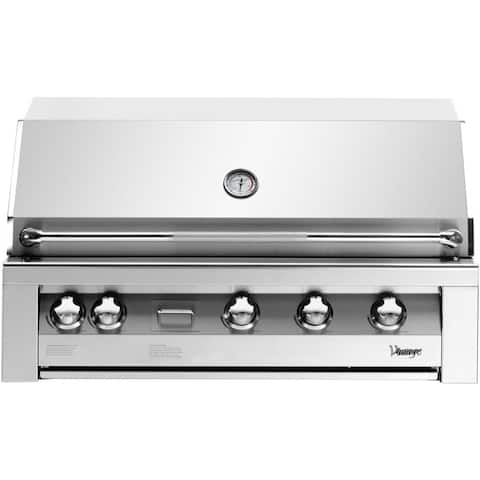 42-In. Liquid Propane Gas Built-In Grill in Stainless with Two Door Cart