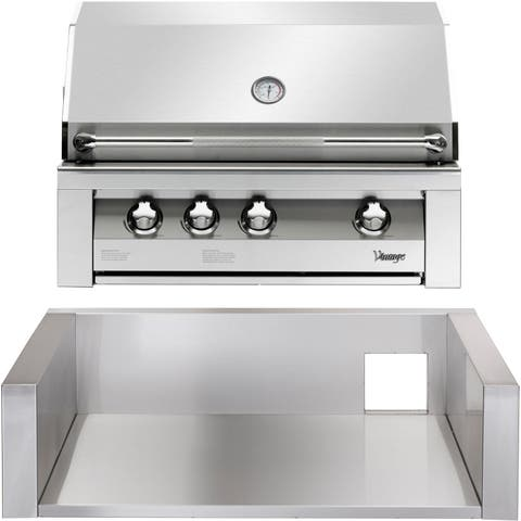 36-In. Built-In Natural Gas Grill in Stainless with Insulated Jacket