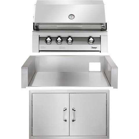 36-In. Built-In Natural Gas Grill in Stainless with Double Access Doors and Insulated Jacket