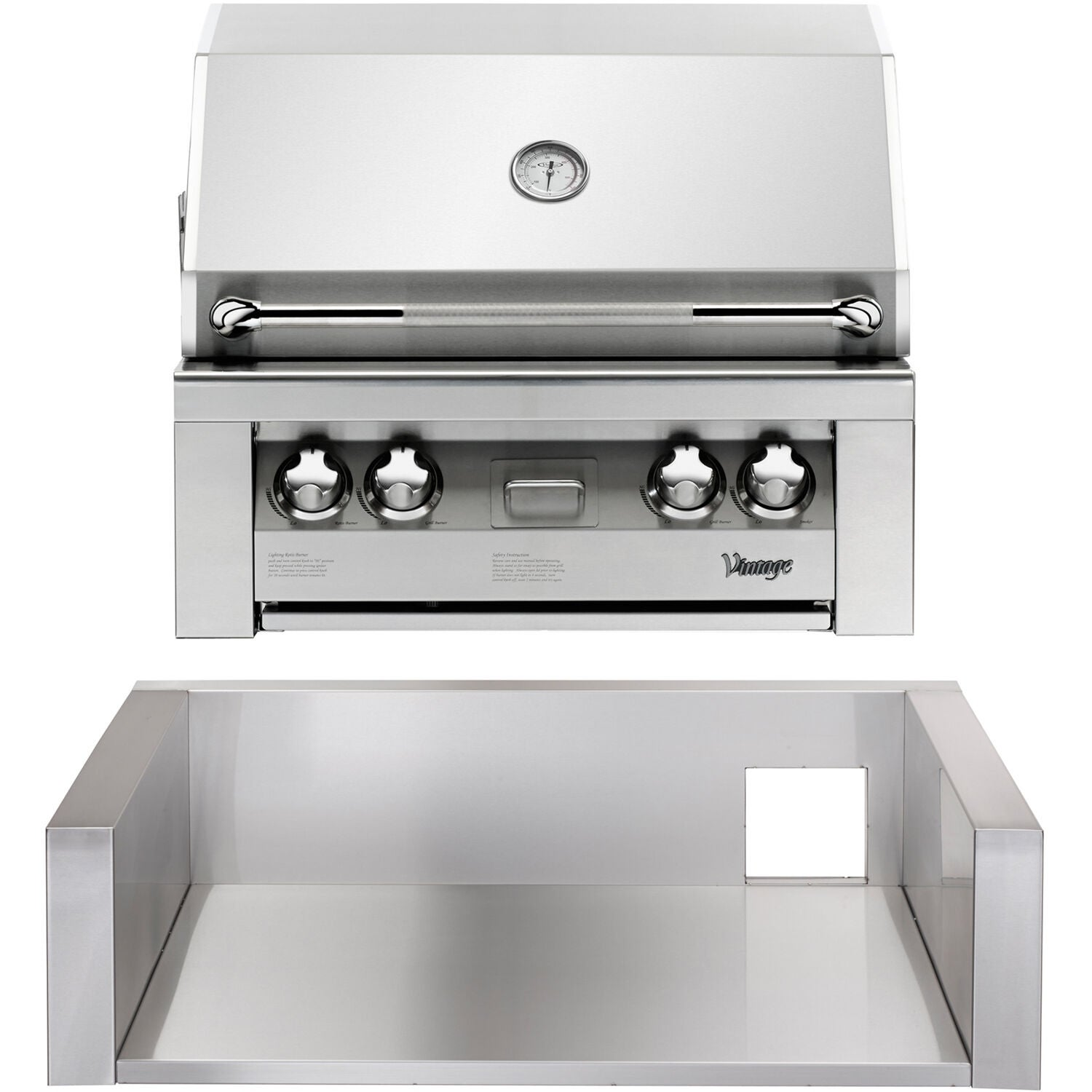 30 In Built In Natural Gas Grill In Stainless With Insulated Jacket Overstock 28166838