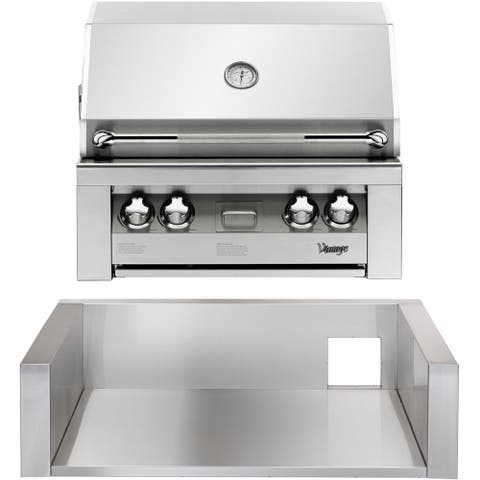 30-In. Built-In Natural Gas Grill in Stainless with Insulated Jacket