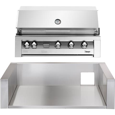 42-In. Liquid Propane Gas Built-In Grill in Stainless with Insulated Jacket