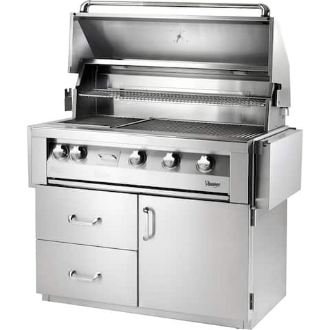 42-In. Built-In Natural Gas Grill in Stainless with Sear Zone and Deluxe Cart