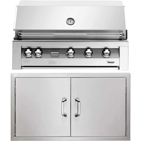 42-In. Built-In Natural Gas Grill in Stainless with Sear Zone and Double Access Doors