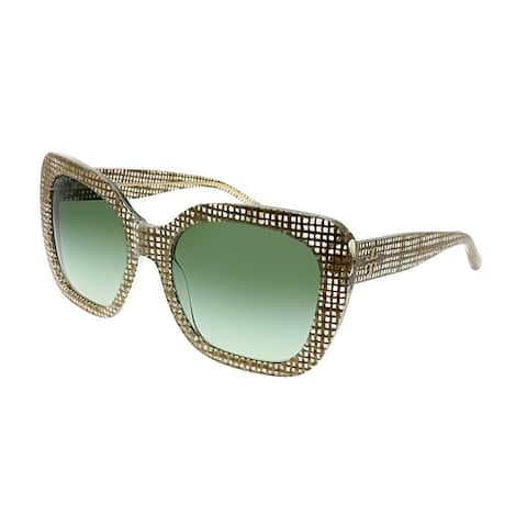 5850c001bd63 Tory Burch TY 7127 17388E Womens Crystal on Raffia Frame Green Gradient Lens  Sunglasses