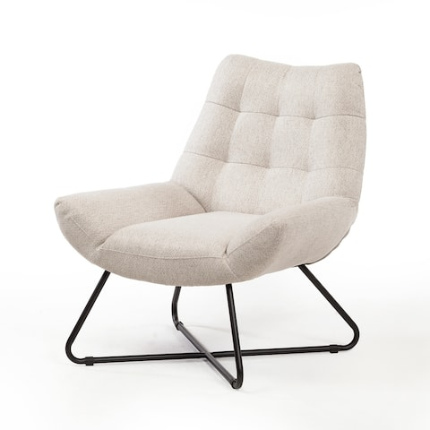 Cali Lounge Chair in Oatmeal Linen
