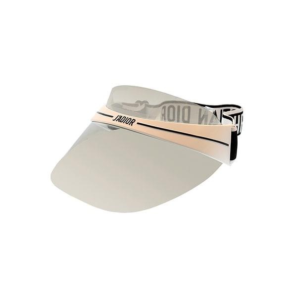 50b1acda51f2c7 Dior J'adior Visor DiorClub1 ECG Unisex White Black Silver Mirror Visor