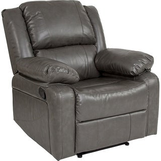 Serenity Classic Grey Leather Recliner