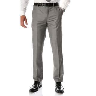 Ferrecci Men's Halo Grey Slim Fit Flat-Front Dress Pants
