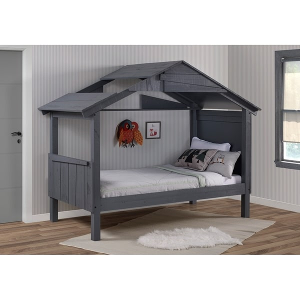 Twin Shack Low Loft in Rustic Dark Grey