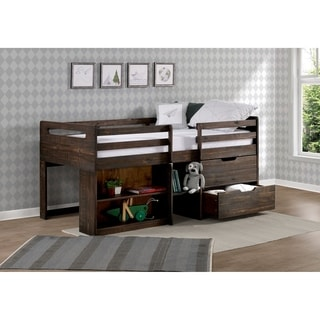 Taylor & Olive Hyacinth Rustic Twin Low-loft Wood Bed