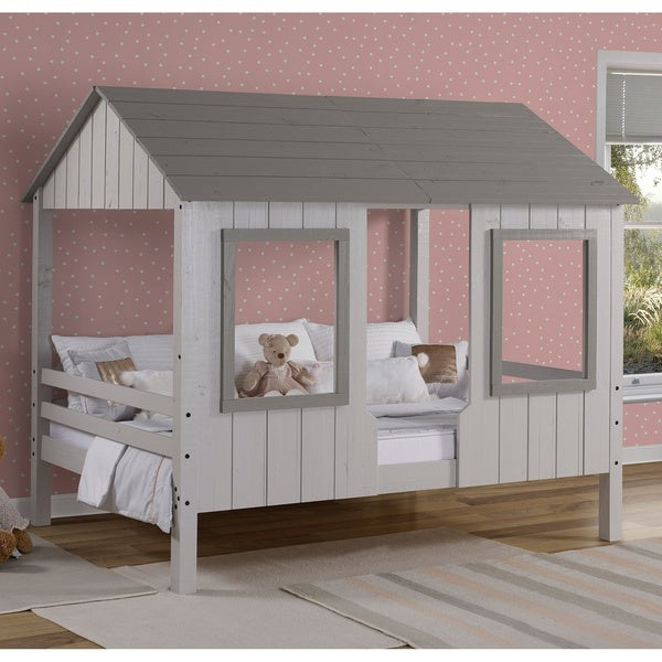 Taylor & Olive Rue Grey Low-loft House Bed. Opens flyout.
