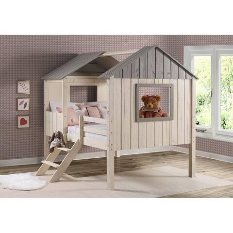 Full House Low Loft Rustic Sandstone Bed