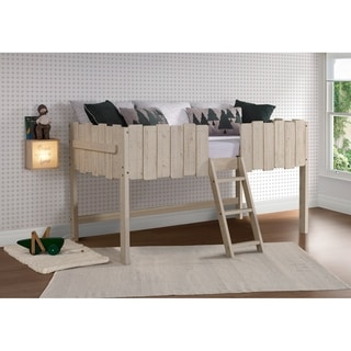 Link to Twin Picket Fence Low Loft in Rustic Sand with Optional Drawers Similar Items in Kids' & Toddler Furniture