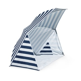 Brolly Beach Umbrella Tent, (Navy and White Stripe)