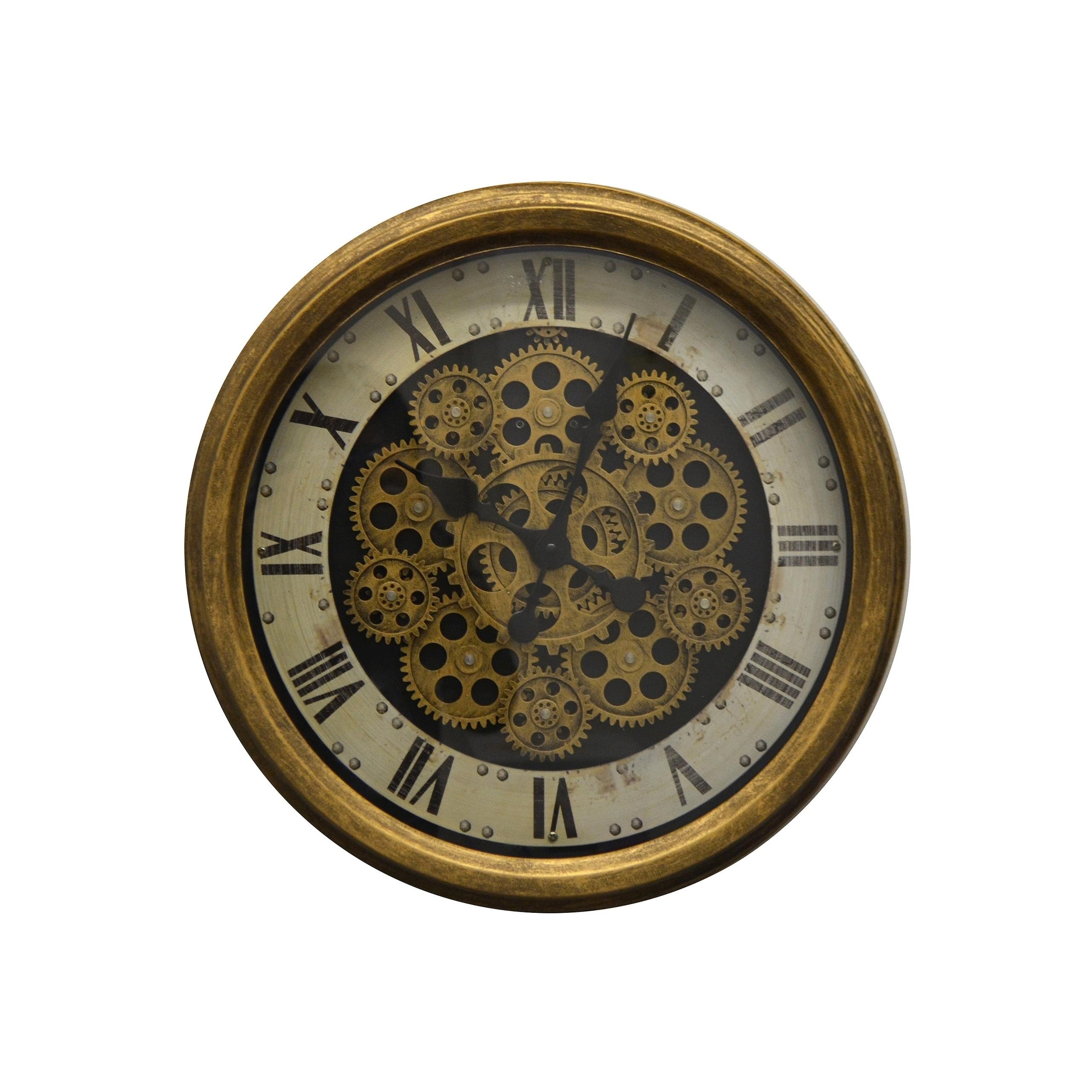 Metal Wall Clock Roman Numerals