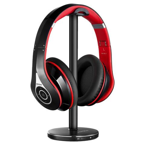 Mpow Headphones with Transmitter Wireless RF Headphones with 100ft/30m Range Wireless TV with 20H Battery for TV PC