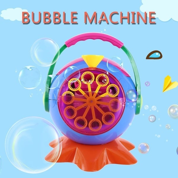 Portable Automatic Bubble Machine Bubble Blowing Soap Outdoor Indoor Toy