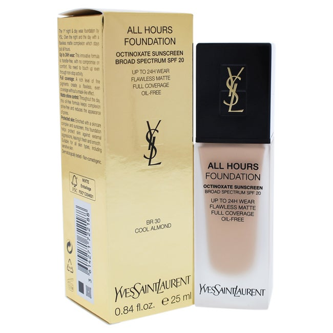 Yves Saint Laurent All Hours Foundation SPF 20 BR30 Cool Almond