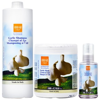 Ever Ego Garlic Shampoo + Mask 33.8oz + Serum 3.38oz