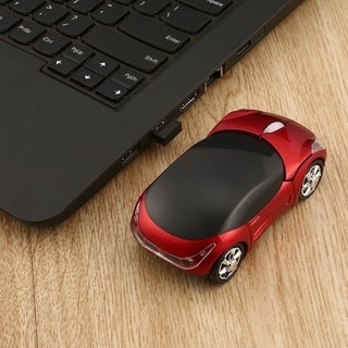 Adjustable 1000DPI Wireless Car Optical Gaming Mouse For PC & USB receiver