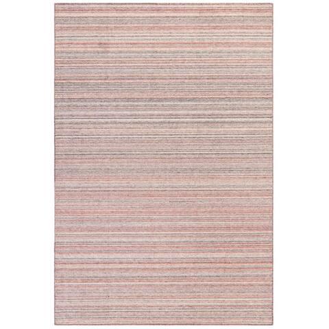 Liora Manne Dakota Stripe Indoor/Outdoor Rug Brick