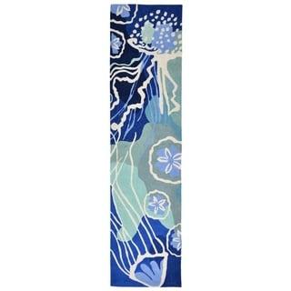 """Liora Manne Capri Jelly Fish Indoor/Outdoor Rug Ocean - 24""""X60"""""""