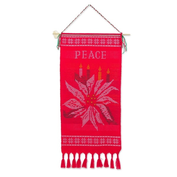 Handmade Peace Cotton wall hanging