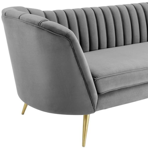 Marvelous Shop Silver Orchid Adams Vertical Channel Tufted Curved Caraccident5 Cool Chair Designs And Ideas Caraccident5Info