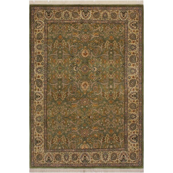 "Pak-Persian Pamelia Lt. Green/Ivory Wool Rug (6'1 x 8'6) - 6'1"" x 8'6"""
