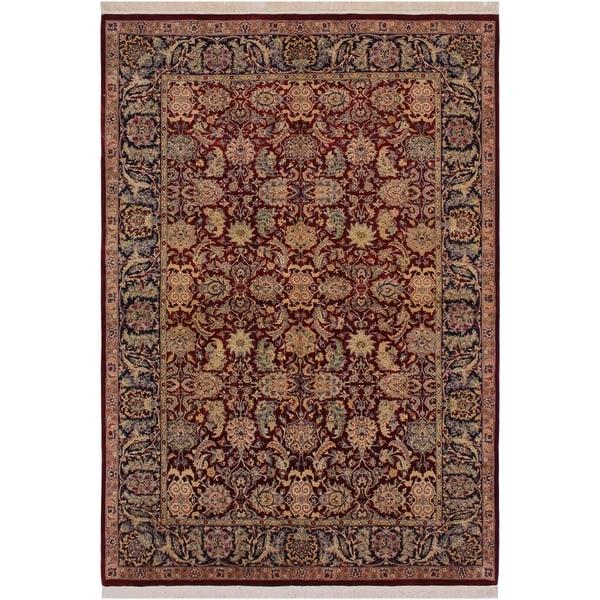 "Agra Pak-Persian Tanja Red/Blue Wool Rug (6'1 x 8'10) - 6'1"" x 8'10"""