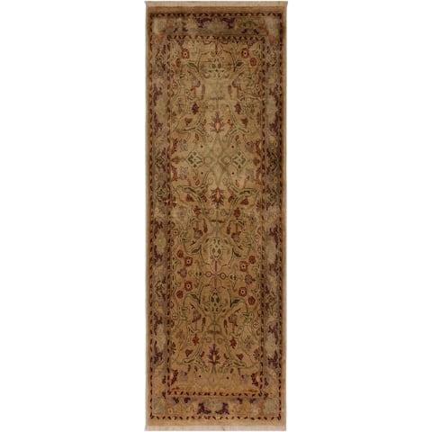 "Pak-Persian Valeri Tan/Grey Wool Rug (2'9 x 5'7) - 2'9"" x 5'7"""