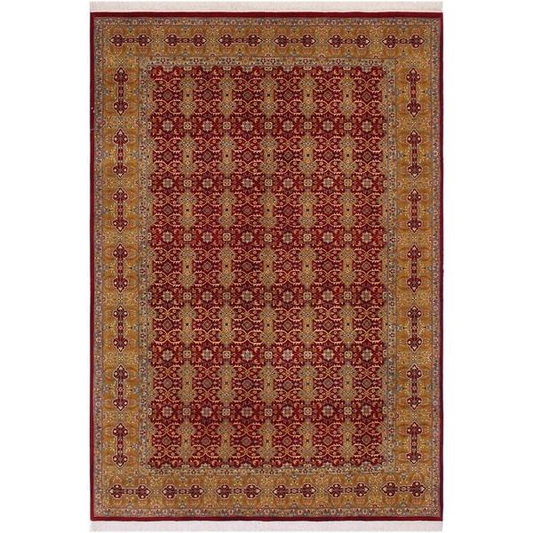"Pak-Persian Jimmy Red/Gold Wool Rug (6'1 x 9'4) - 6'1"" x 9'4"""