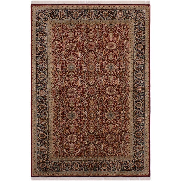"Pak-Persian Ashlyn Red/Blue Wool Rug (6'0 x 8'6) - 6'0"" x 8'6"""