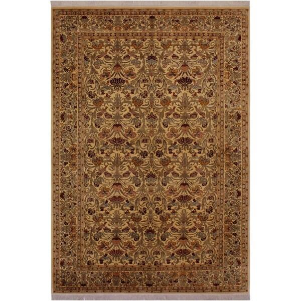 "Abusson Pak-Persian Elly Tan/Grey Wool Rug (6'1 x 9'10) - 6'1"" x 9'10"""