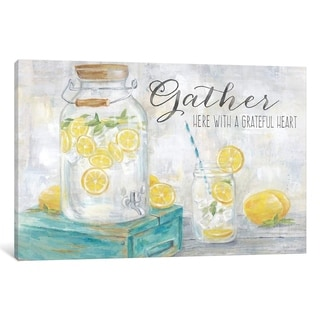 """iCanvas """"Gather Here Country Lemons Landscape"""" by Cynthia Coulter"""