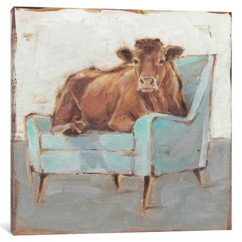 """iCanvas """"Moo-ving In IV"""" by Ethan Harper"""