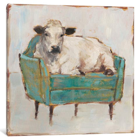 """iCanvas """"Moo-ving In I"""" by Ethan Harper"""