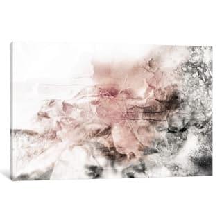 """Porch & Den Katrina Jones """"Rose Grey Abstract Watercolor"""" Wall Art"""
