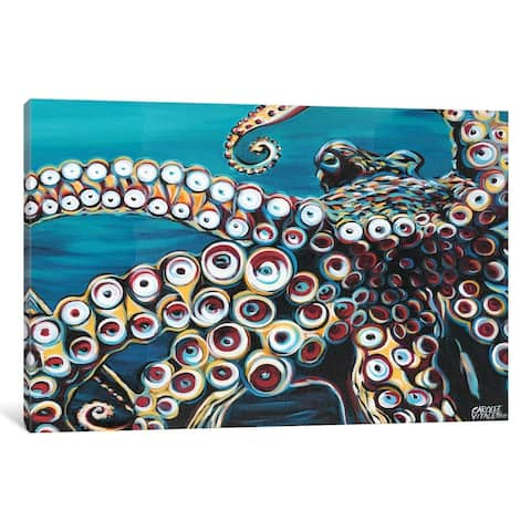 "Porch & Den Carolee Vitaletti ""Wild Octopus I"" Wall Art"