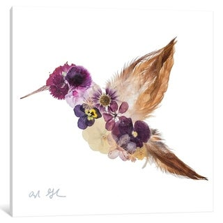 """iCanvas """"Hummingbird"""" by Oxeye Floral Co"""