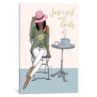 """iCanvas """"Just A Girl With Goals - Dark Skin"""" by Rongrong DeVoe"""