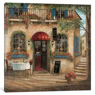 """Porch & Den Ruane Manning """"Centro Piazza Cafe"""" Wall Art"""