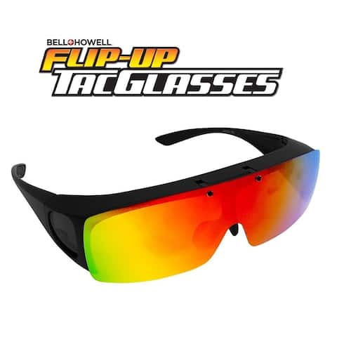 d7934bcc9c2f Bell Howell Tactical Flip Up Glasses Polarized Multi Functional As Seen On  TV - Black