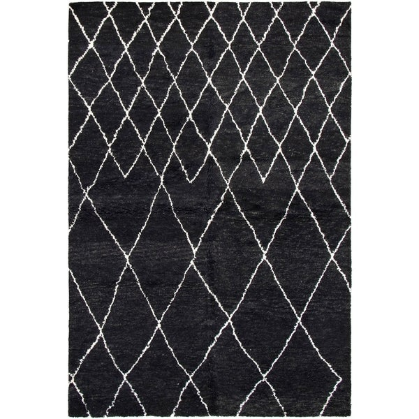 ECARPETGALLERY Arlequin Black Rug - 6'0 x 9'0